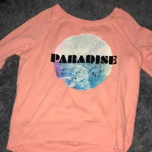american eagle pink paradise long sleeved t shirt